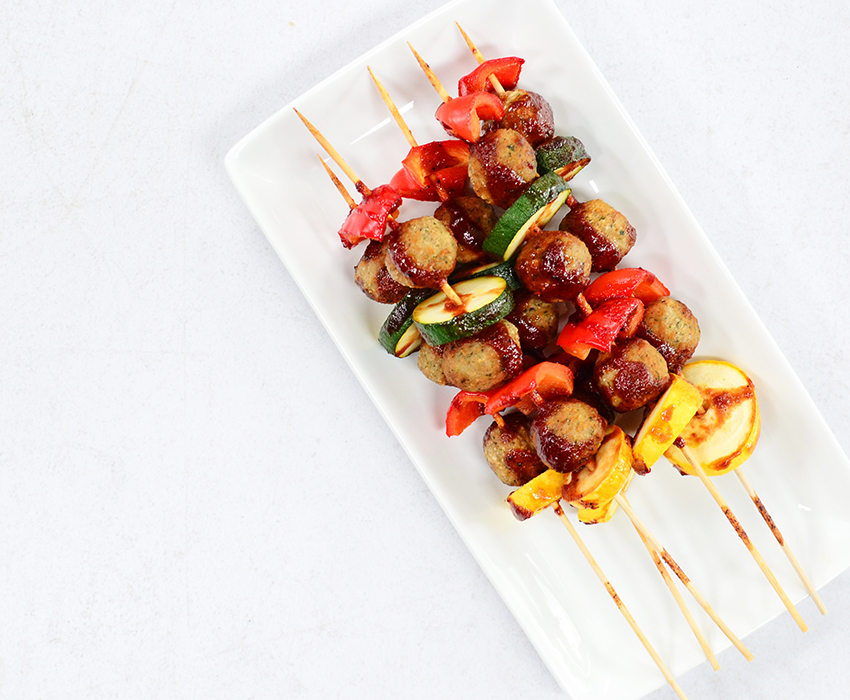 Image for BBQ Easy Meatball Kebabs