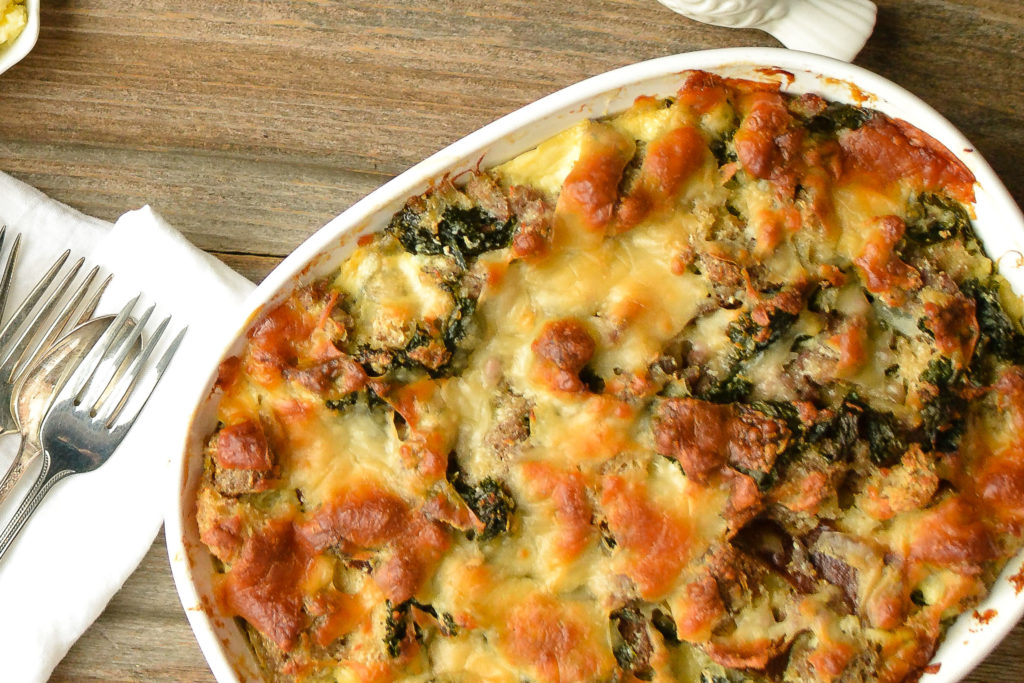 Image for Sausage Kale Bread Pudding