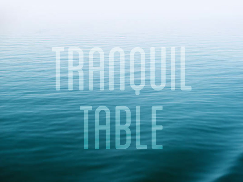 Image for Tranquil Table