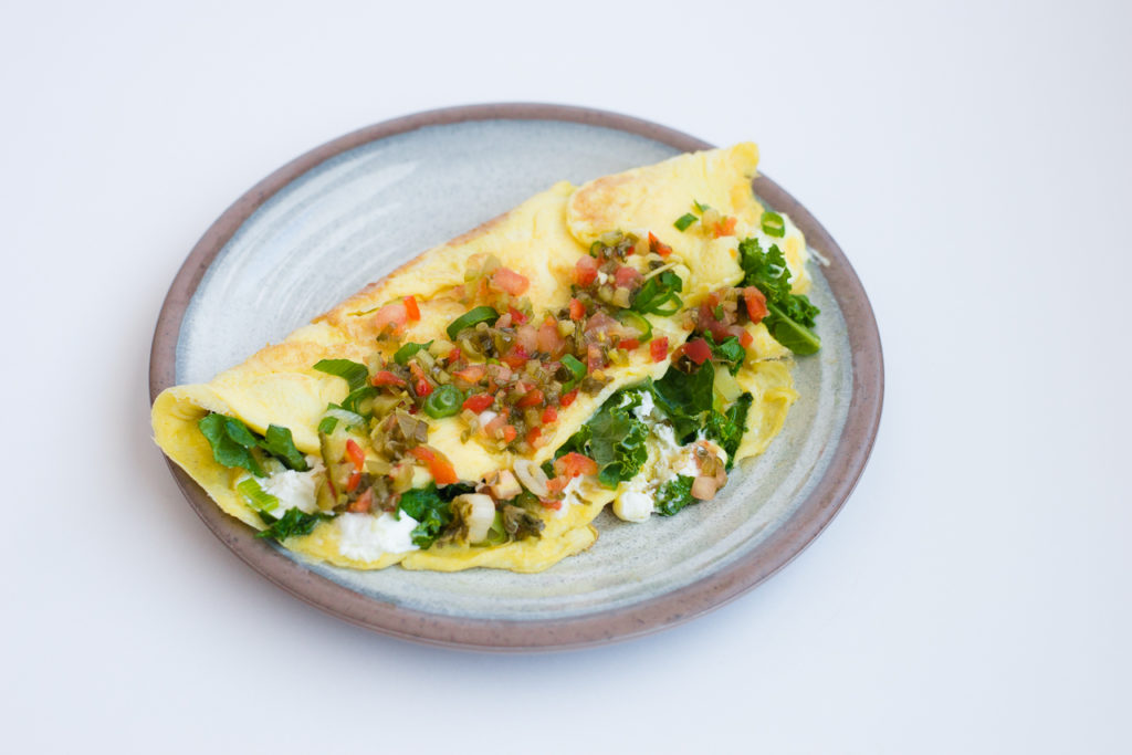 Image for Kale and Goat Cheese Omelet