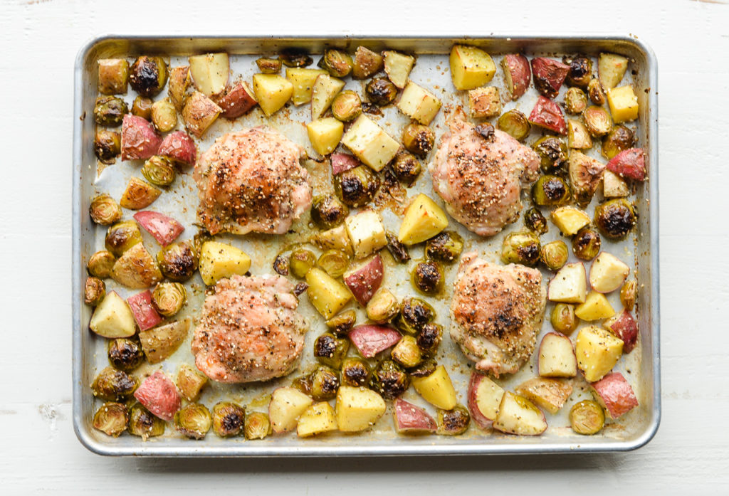 Image for Sheet Pan Chicken, Potatoes and Brussels Sprouts
