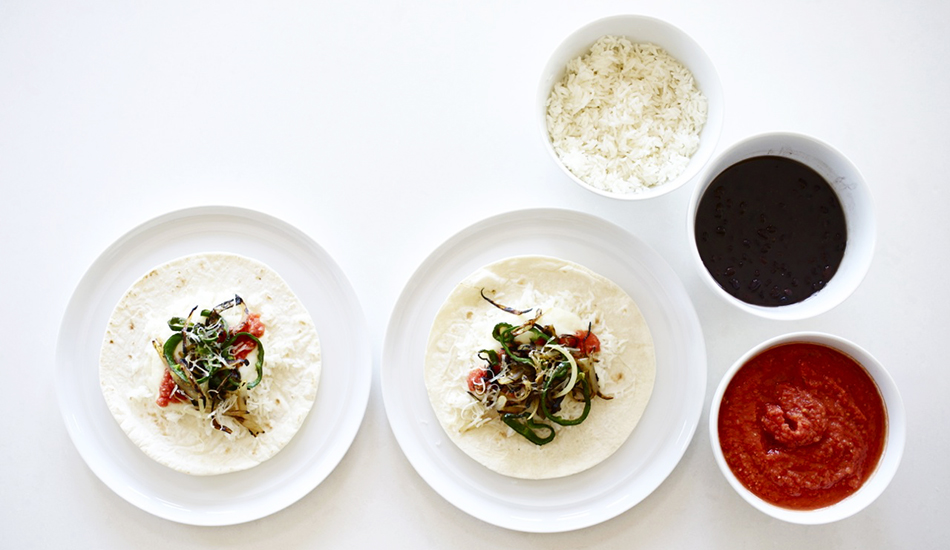 Image for Poblano Tacos with Cauliflower Queso & Tomato Sauce
