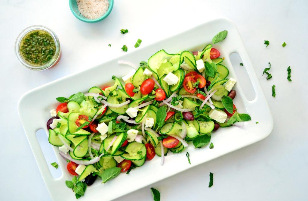 Image for Spiraled Greek Cucumber Salad
