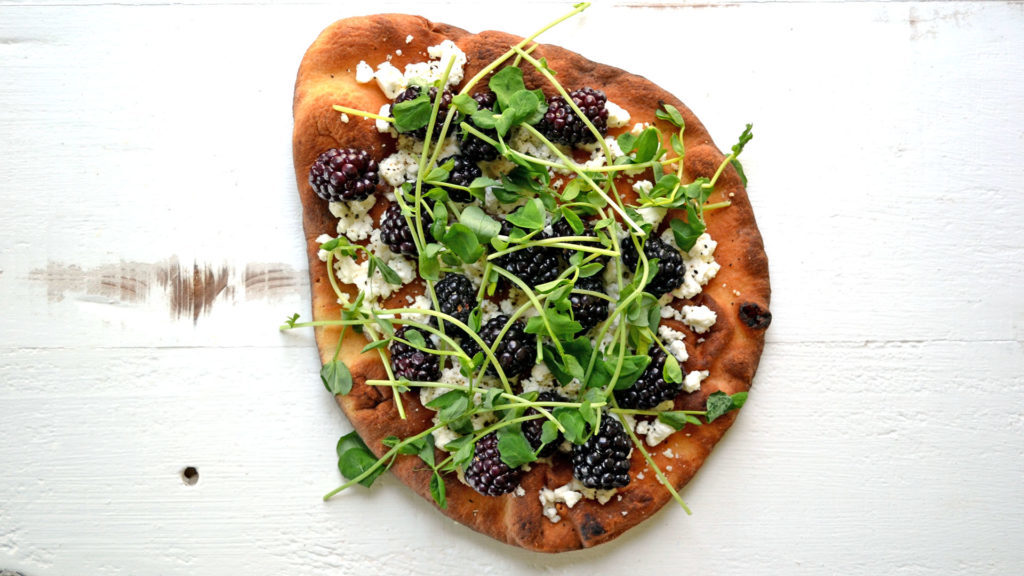 Image for Blackberry & Goat Cheese Naan Pizza