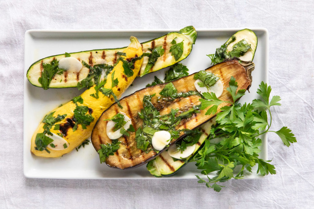 Image for Marinated and Seared Zucchini and Eggplant