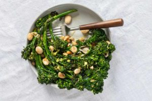 Image for Smoked Broccolini with Shallots and Almonds