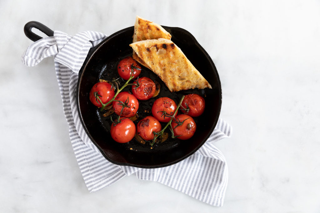 Image for Spicy Charred Vine Tomatoes with Garlic