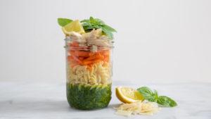 Image for Lemon Pesto Chicken Noodle Soup in a Jar