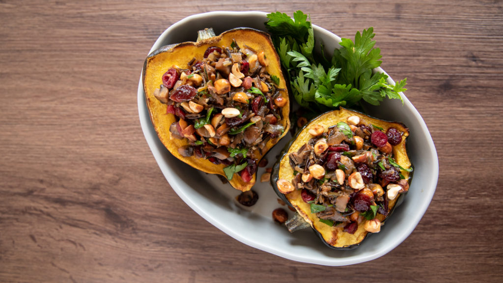 Image for Wild Rice Pilaf Stuffed Acorn Squash