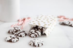 Image for Gooey Chocolate Peppermint Crinkle Cookies