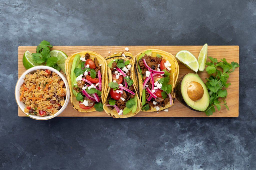 Image for Adobo Beef and Mushroom Tacos
