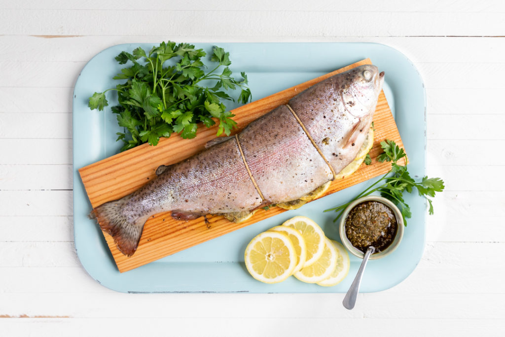 Image for Cedar Plank Trout with Chimichurri