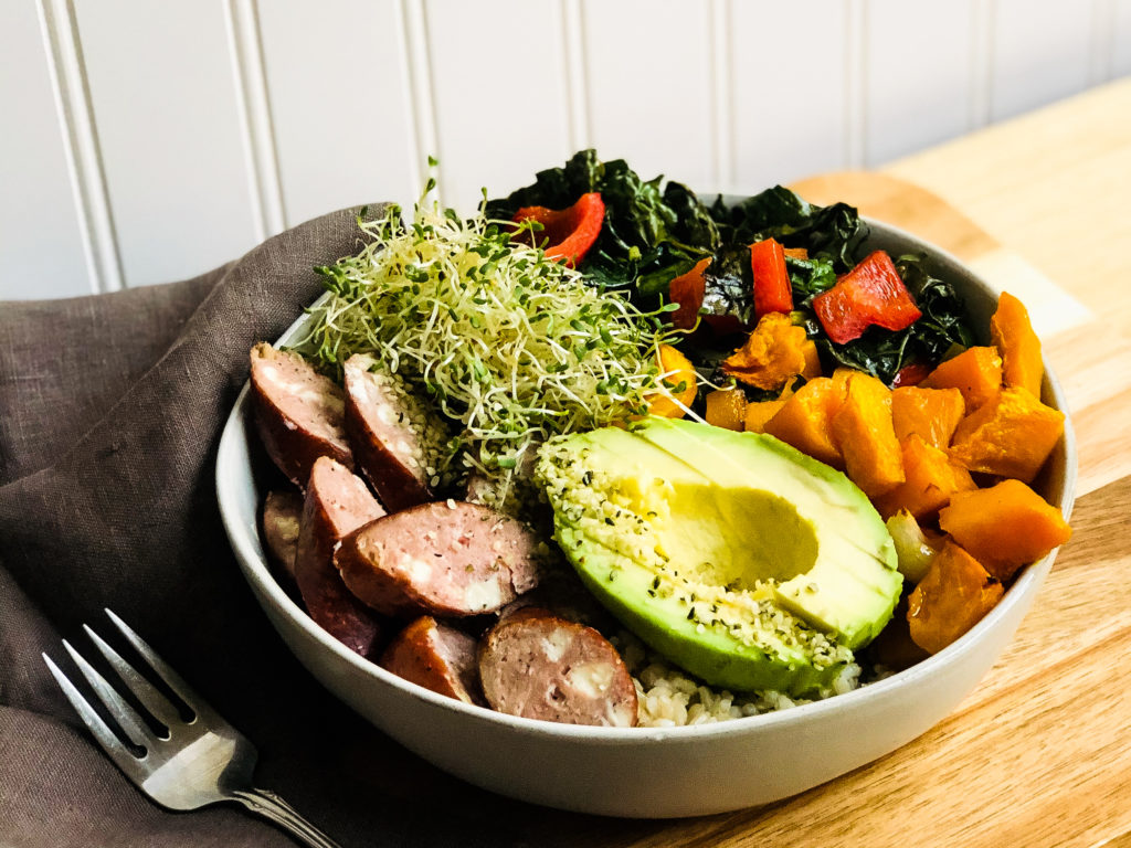 Image for Squash, Sausage, & Kale Harvest Bowl