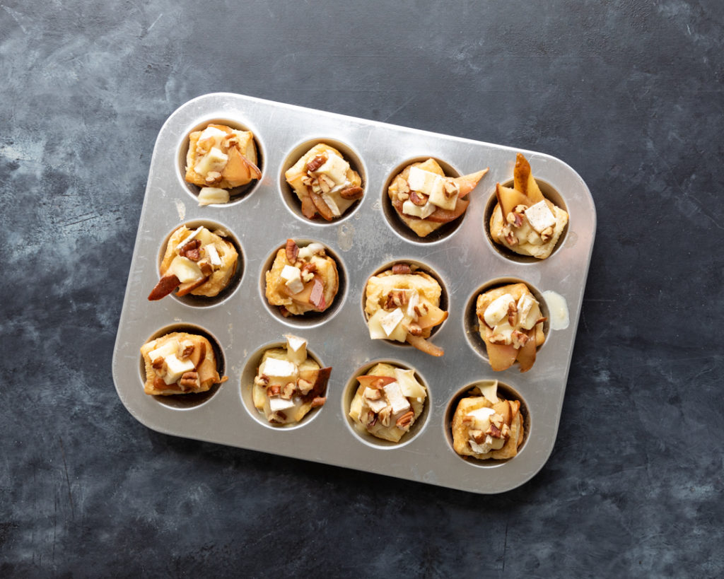 Image for Caramelized Pear and Brie Bites