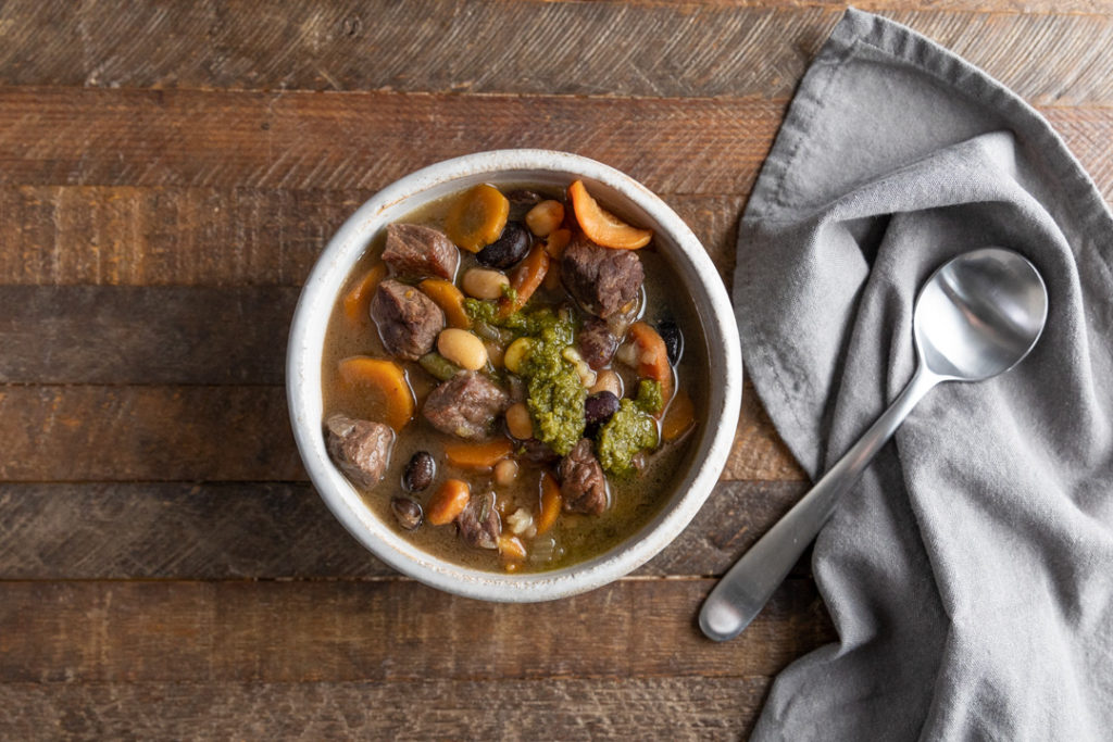 Image for Chunky Beef and Vegetable Soup with Chutney