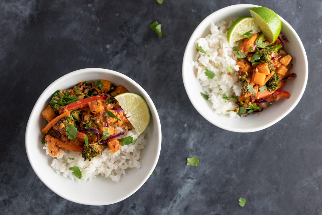 Image for Red Thai Coconut Curry with Winter Vegetables