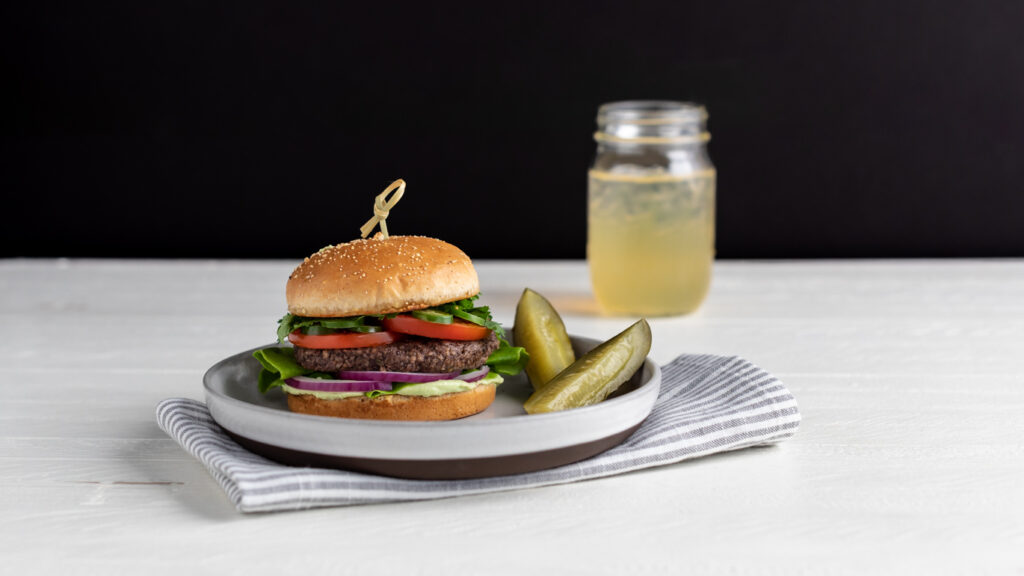 Image for Jalapeño Black Bean Veggie Burgers with Avocado Crema