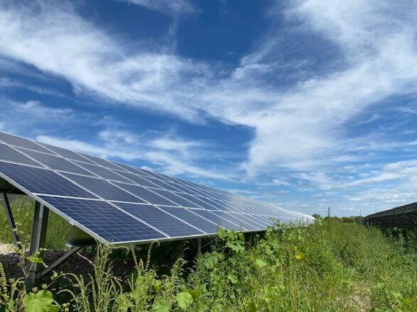 Solar Panel Soaks in the Sun