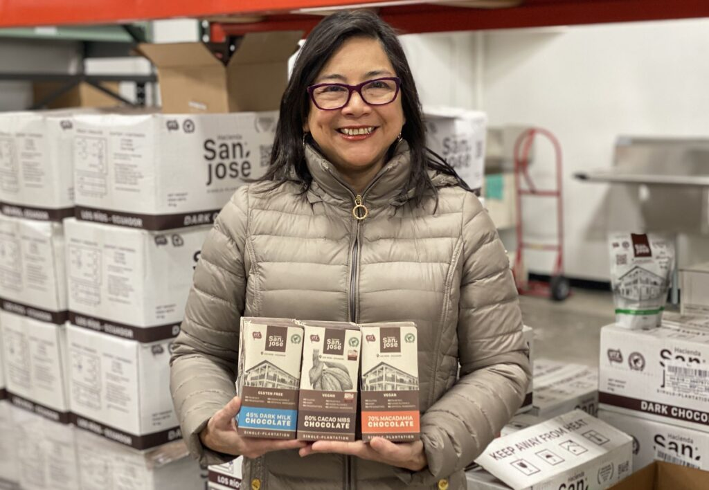 Monica Jimenez Holds San Jose Chocolates