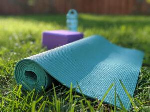 Yoga Mat in Yard