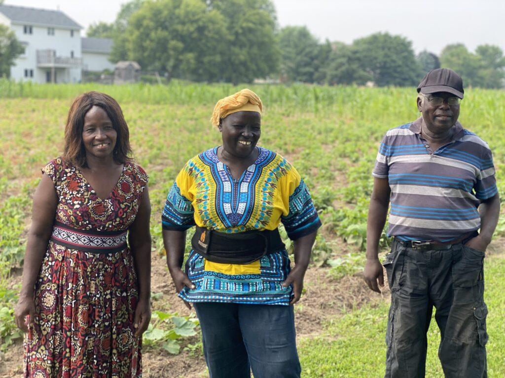 Jane, Callin and Charles, SASA Farmers